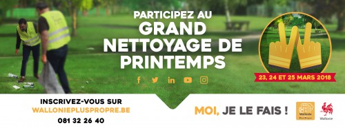 Grand nettoyage de printemps : appel