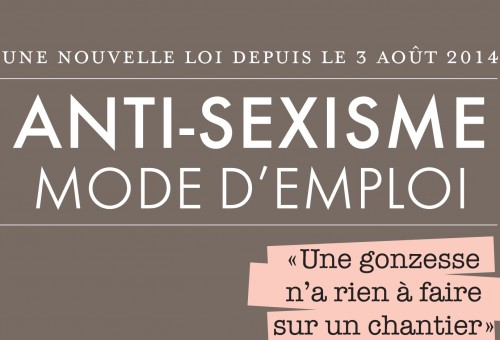 Nouvelle legislation anti-sexisme